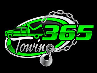 365 towing logo design
