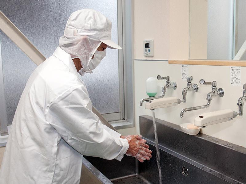 安全/安心のために徹底管理の製造工程