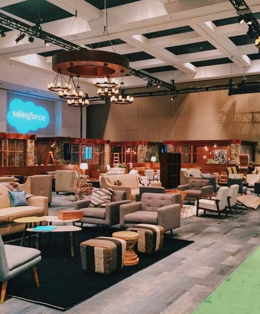 Inside Salesforce's Trailhead-inspired Dreamforce conference. 2016. Photo: Kyle Legg, 49Miles.com.