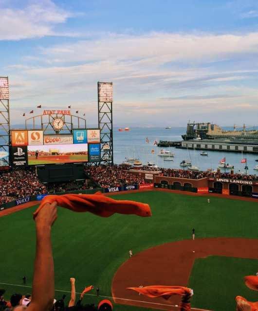 The Giants' fifth and final game in the 2014 National League Championship Series against the St. Louis Cardinals before advancing to the 2014 World Series. Photo: Kyle Legg, 49Miles.com.
