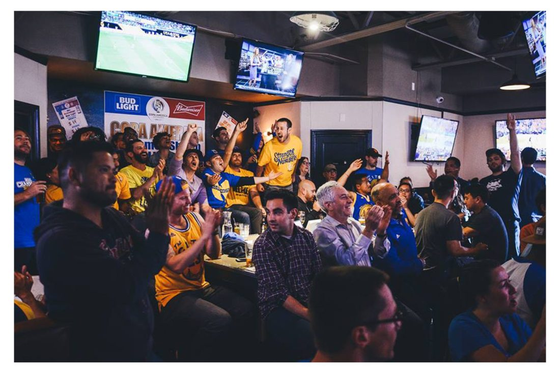 Warriors game at the SF Athletic Club. Photo: SF Athletic Club, Facebook.