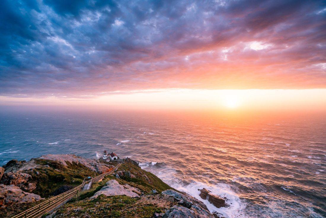 """""""Point Reyes lighthouse sunset. 60 mph winds. Epic."""" Photo: Jake Landon, @jakelandon. #SFGuide Featured Photographer."""