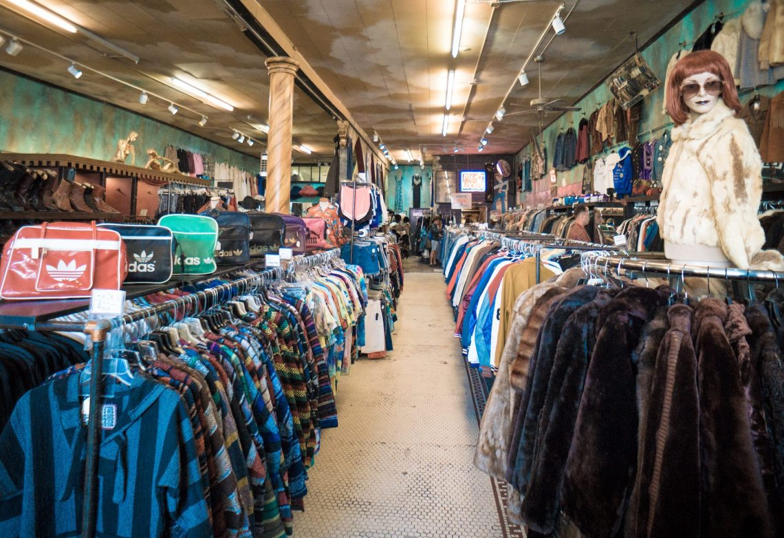 Inside Held Over Thrift Store. Photo: Justin Wong, 49miles.com.
