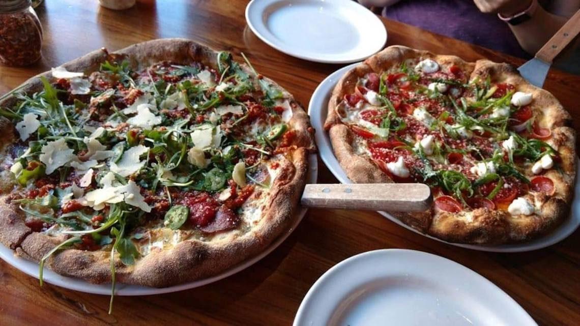 """The Wise Guy"" and ""Killing Zoe"". Photo: Slice House by Tony Gemignani, Facebook."