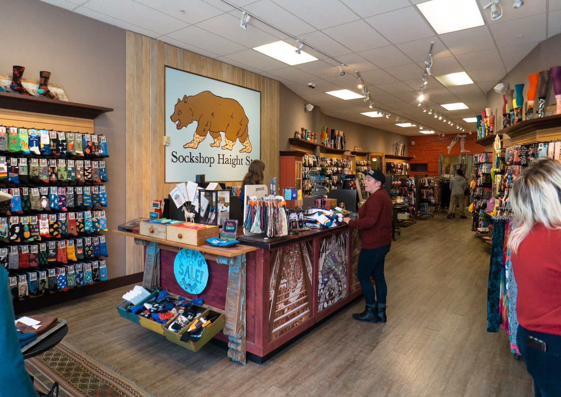 Inside Sockshop. Photo: Justin Wong, 49miles.com.