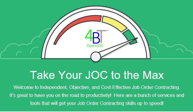 job order contracting services and tools
