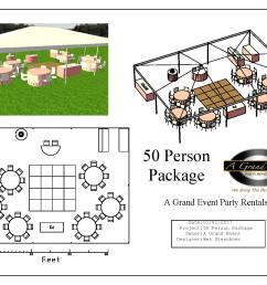 tent capacity depends on how many people seated per table tent can fit 50 with 8 people per 5 round table and up to 62 with 10 per 5 round table  [ 1600 x 1204 Pixel ]