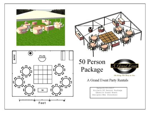 small resolution of tent capacity depends on how many people seated per table tent can fit 50 with 8 people per 5 round table and up to 62 with 10 per 5 round table