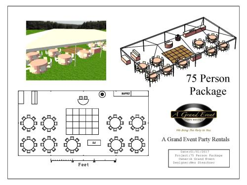 small resolution of 75 person tent package