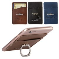 Leatherette Custom Cell Phone Wallet and Ring Holder Stand ...