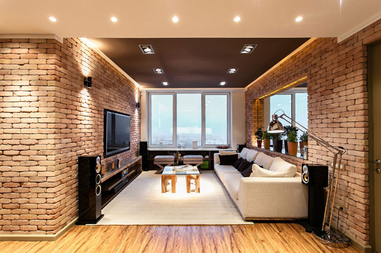 new york loft style living room gallery of designs stylish laconic and functional interior design apartment