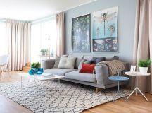 Light Blue Interior Design in Scandinavian Style