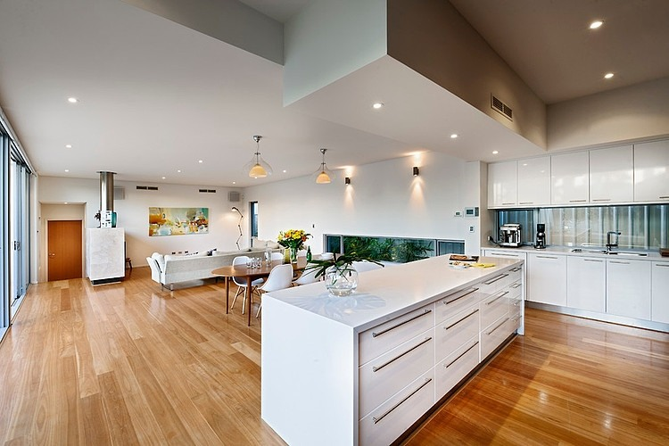 Open Floor Plan House Interior Design Located in Sunny