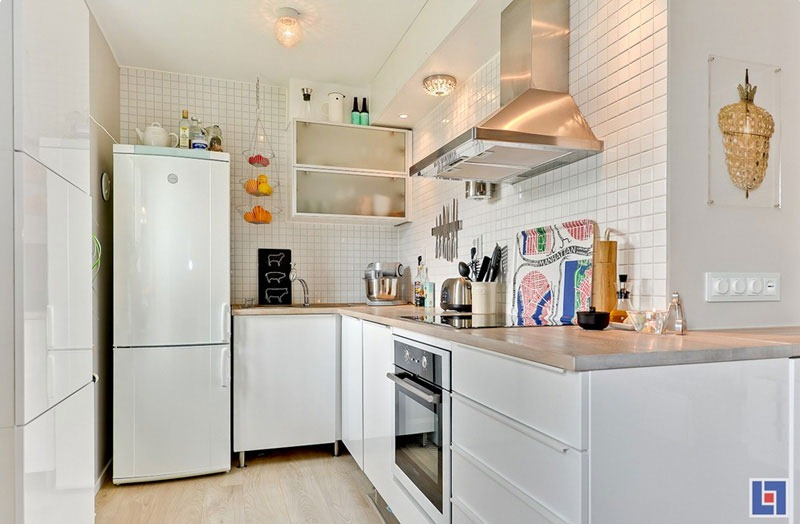 Tiny Studio Apartment with Swedish Charm