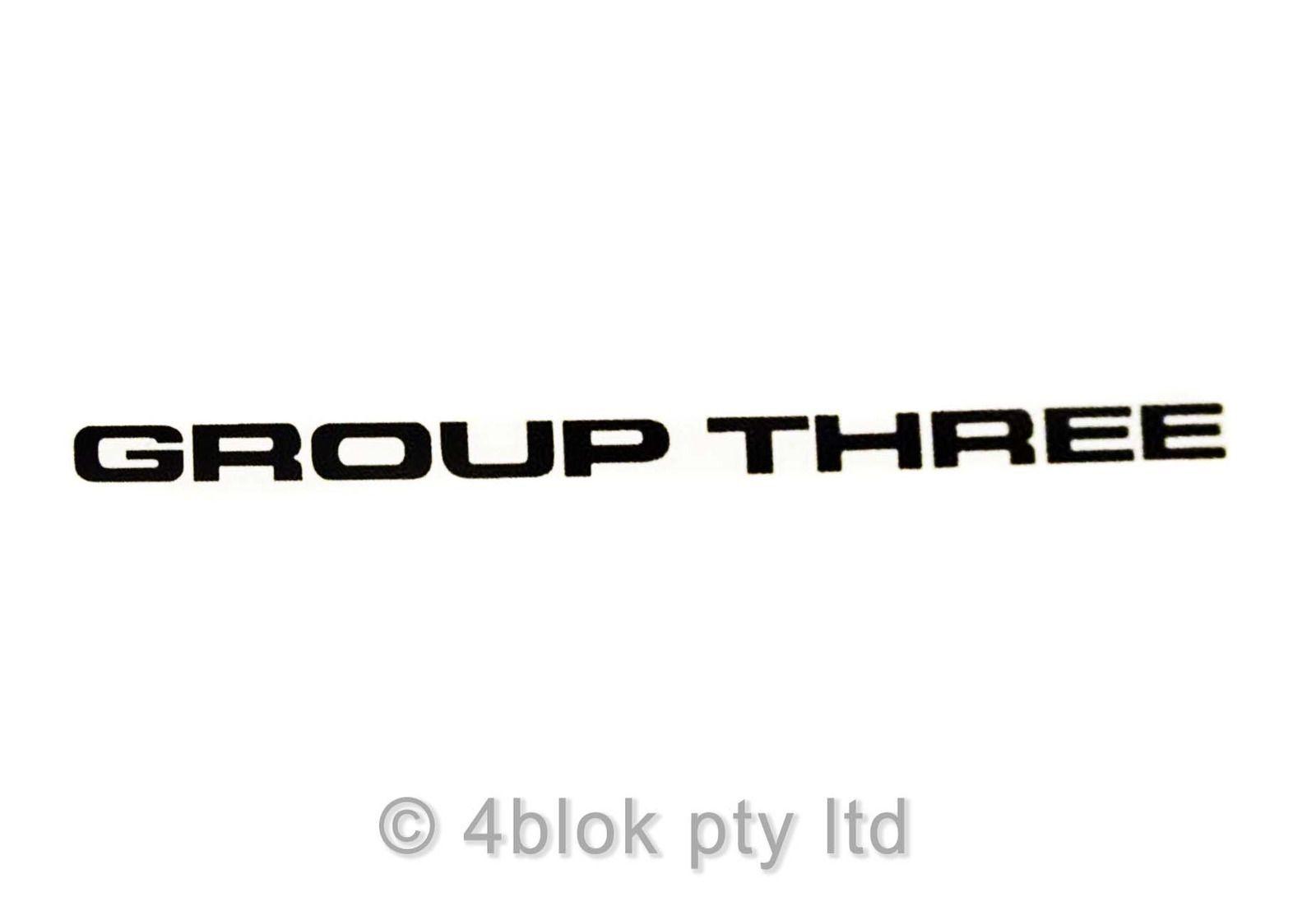 Hdt Vl Group Three