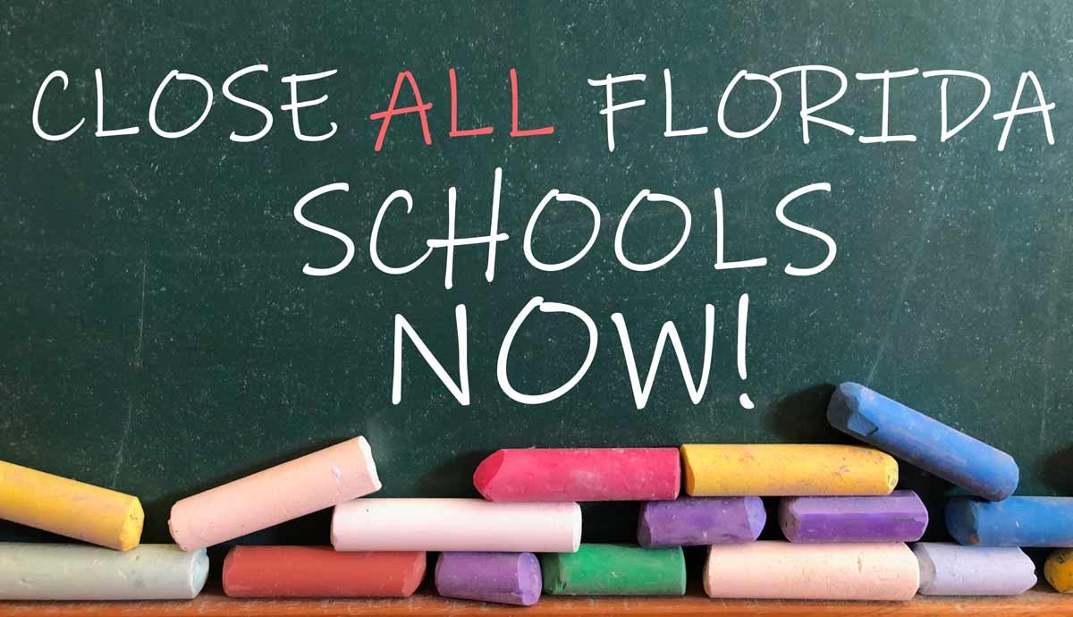 Close All Florida Schools NOW due to CORONAVIRUS.