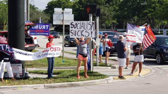 Boca Raton's Protest Corner