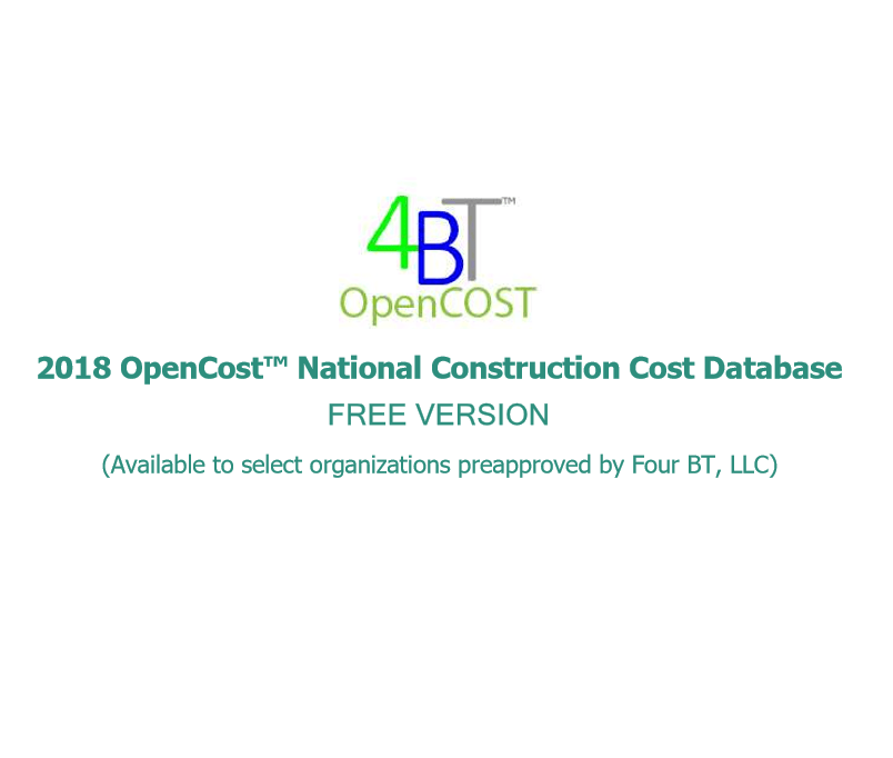 National OpenCost Construction Cost Data - FREE VERSION