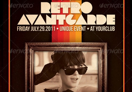 retro avantgarde flyer template