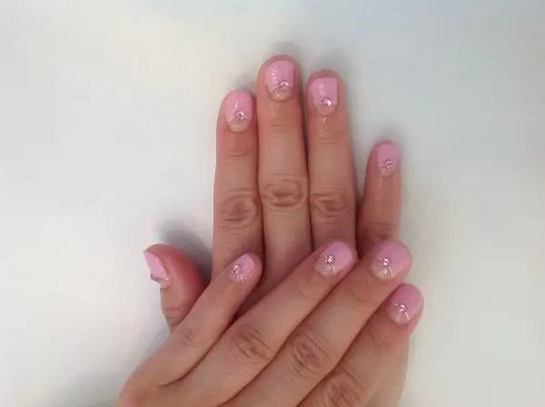 ピンク逆フレンチ