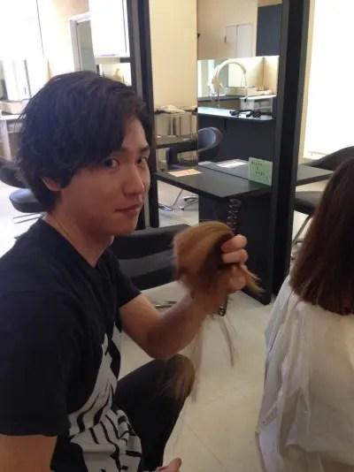 ブリーチショートヘア!髪色ピンクアッシュ!仙石大佑サロンワーク