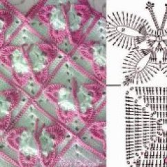 Crochet Granny Square Diagram Honeywell Thermostat Wiring Th4110d1007 Patterns Free Craft Butterfly Tina S Handicraft Translation
