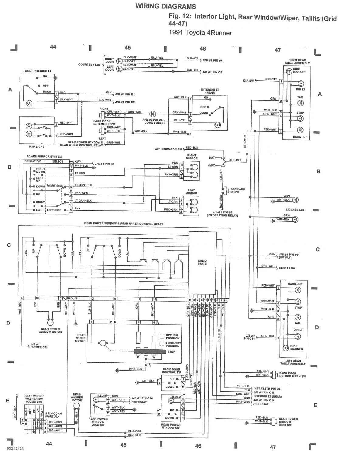 1991 toyota pickup alternator wiring diagram national rv diagrams 22r library