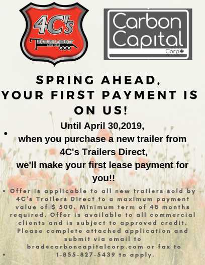 Finance Company Promotion Carbon Capital Corporation 4C's Trailers Direct