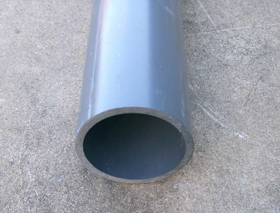 6 Inch PVC Pipe Schedule 80 S80 (3 Foot Sections)