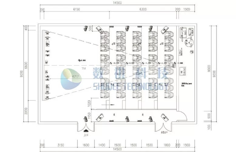 3D Movie Theater Layout Design With High Definition Cinema