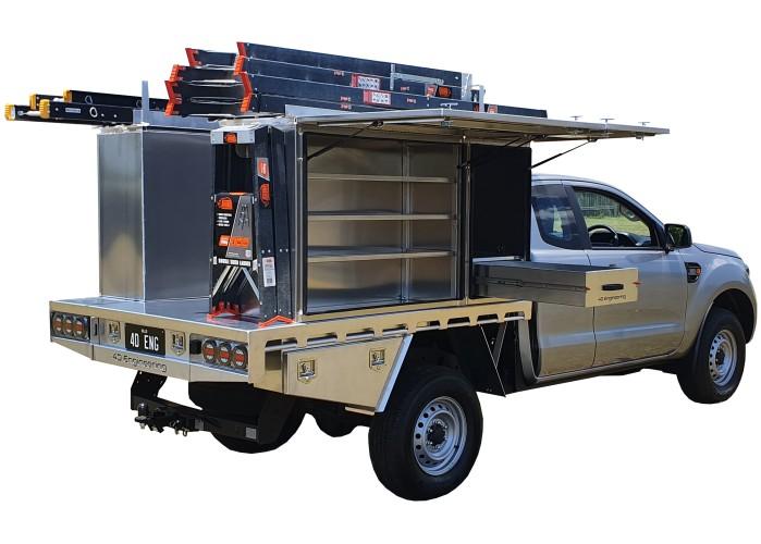 Ford Ranger PX Tray Tool Boxes Ladder Rack Drawer - 001