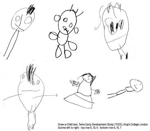 رسوم الأطفال في عمر الرابعة مؤشر على ذكاء الطفل بعمر