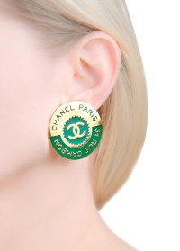 Vintage disc style earrings Chanel - 4Element