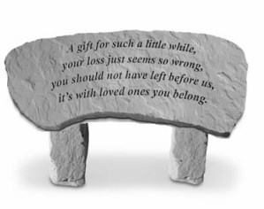 Garden Bench – A Gift for Such a Little While