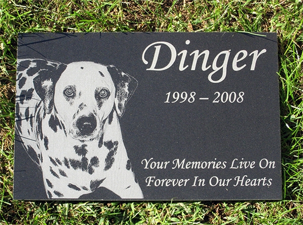 Engraved Photographic Granite Pet Memorial