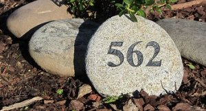 Medium River Rock Address Marker