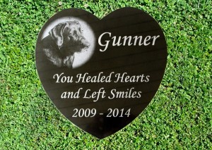 Photo Engraved Black Granite Heart Memorial