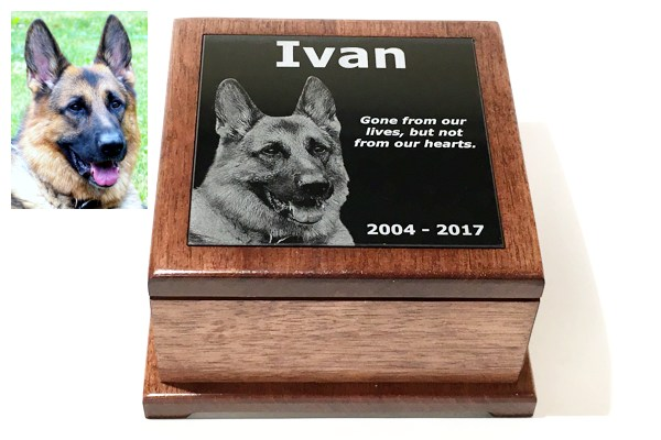 Photographic Marble Pet Urn