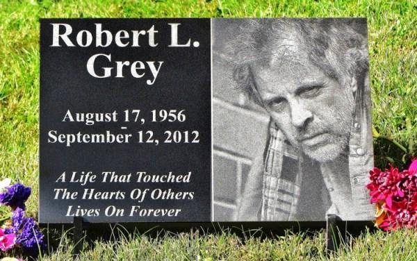 Engraved Photographic Granite Memorial