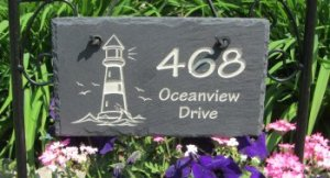 Slate Rectangle Address Marker