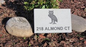 Small PA Bluestone Address Marker