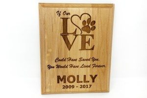 Wood Love Plaque
