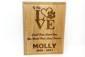 Wood Love Plaque