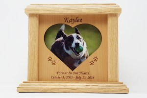 Wooden Heart & Oval Photo Urns