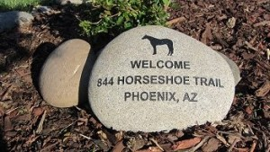 Extra Large River Rock Address Marker