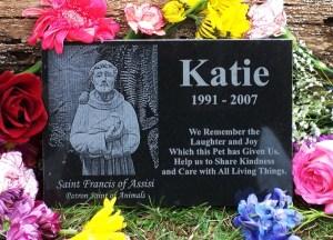 Saint Francis Granite Pet Memorial