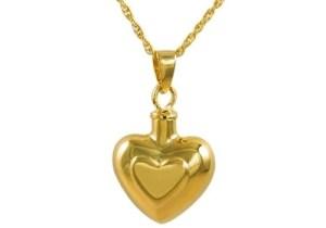 Double Heart Gold Pendant