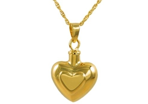 Double Heart Gold Pendant