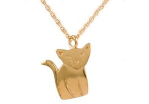 Gold Cat Pendant