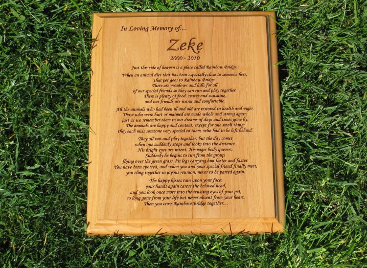 Rainbow Bridge Wooden Plaque